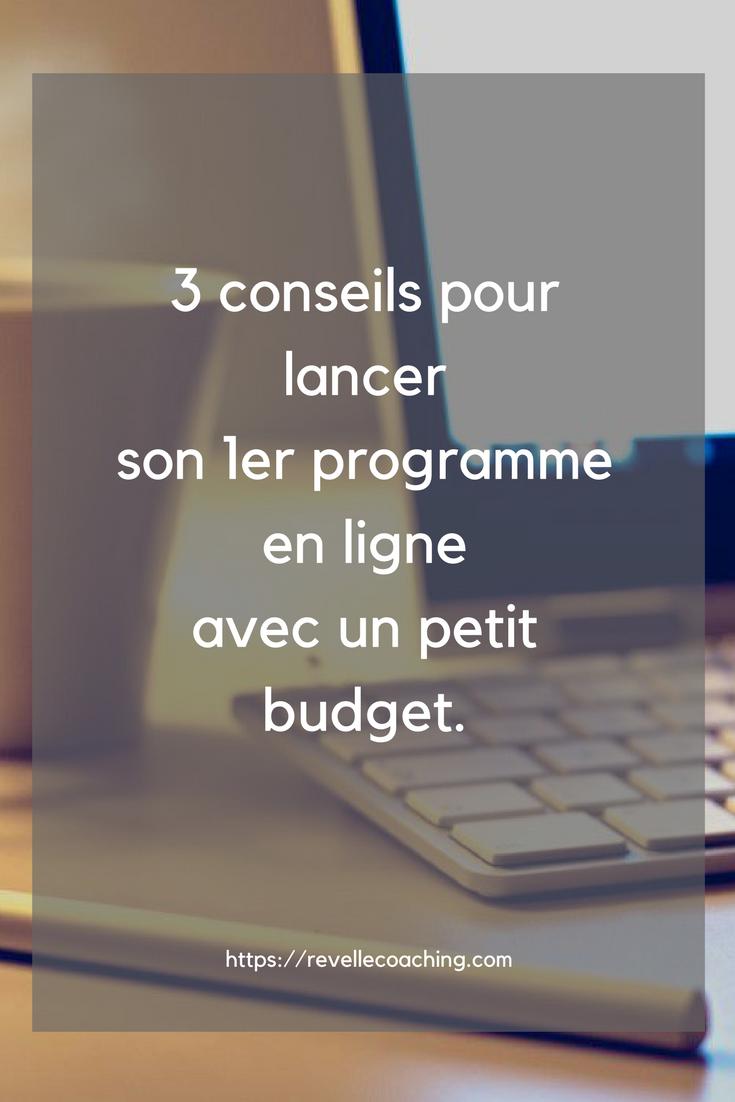 comment lancer son programme en ligne avec un petit budget